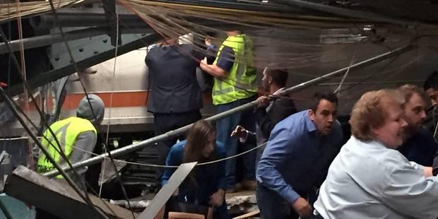 USA: un train défonce une gare du New Jersey, un mort et plus de 100 blessés - La Libre