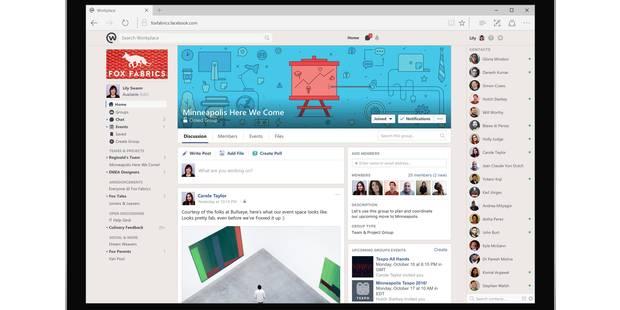 Facebook lance Workplace, réseau social privé pour les entreprises - La Libre