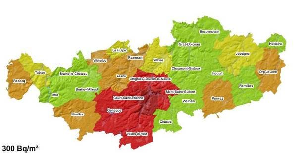 Radon dans le Brabant wallon: 3 communes de plus en zone à risque! - La Libre