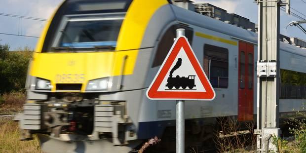 Collision entre un train de voyageurs et une grue à Melsele - La Libre