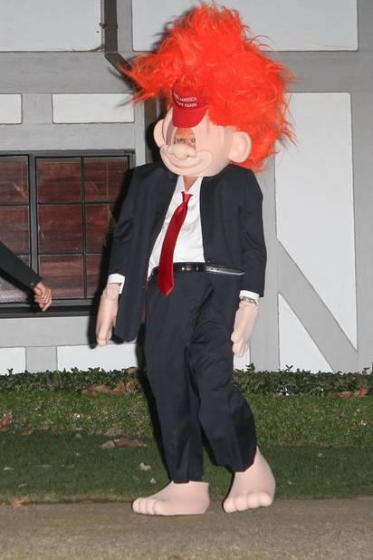 Orlando Bloom, compagnon de Katy Perry, avait lui décidé de se déguiser en Donald Trump, rival de la candidate à la présidentielle.
