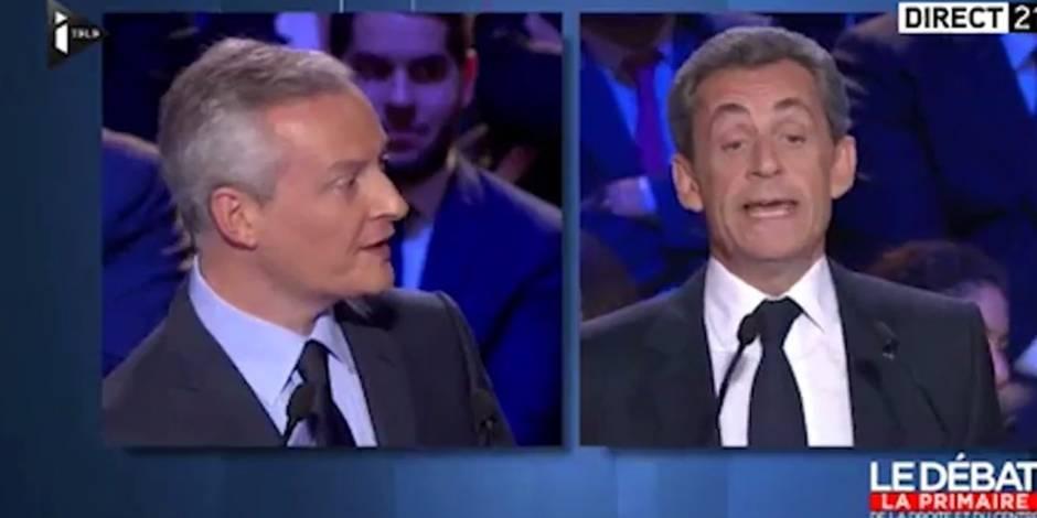Répliques cinglantes entre Sarkozy et Bruno Le Maire lors du deuxième débat des primaires