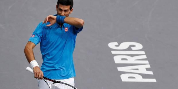 Djokovic éliminé en 1/4 de finale du Masters de Paris-Bercy par Cilic - La Libre