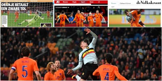 """""""Ils se sont cachés"""", """"les Belges étranglés dans leur propre paresse"""": La presse hollandaise étrille les Diables rouges ..."""