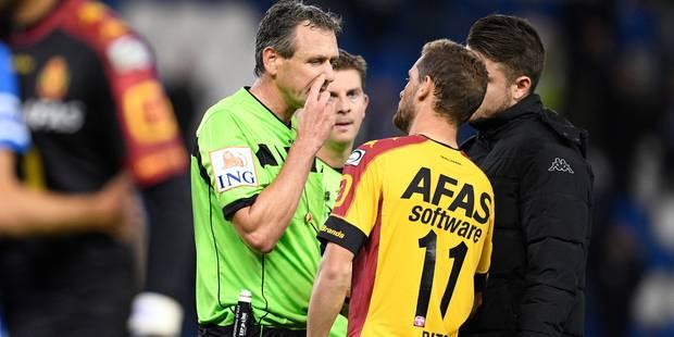 L'arbitre exclut le mauvais joueur: Genk-Malines ne sera pas rejoué - La Libre