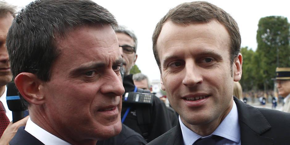 La réaction piquante de Valls à la candidature de Macron