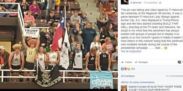 """Des lycéens blancs chantent """"Construis ce mur"""" à des Latinos-Américains durant un match de volley - La Libre"""