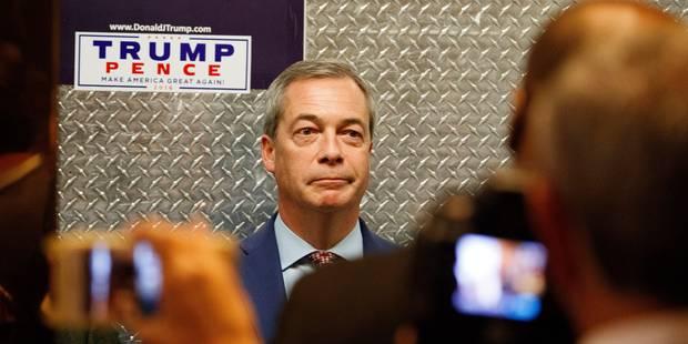 Trump verrait bien Nigel Farage comme ambassadeur britannique aux Etats-Unis - La Libre