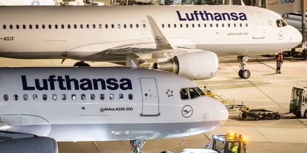 Grève des pilotes chez Lufthansa: quelque 900 vols annulés ce mercredi, en Belgique aussi - La Libre
