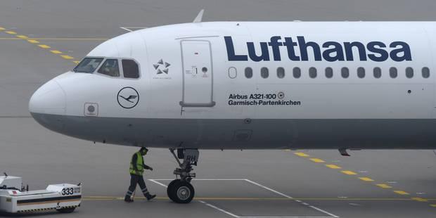 Lufthansa annule 830 vols vendredi à cause de la grève, qui se poursuivra samedi - La Libre