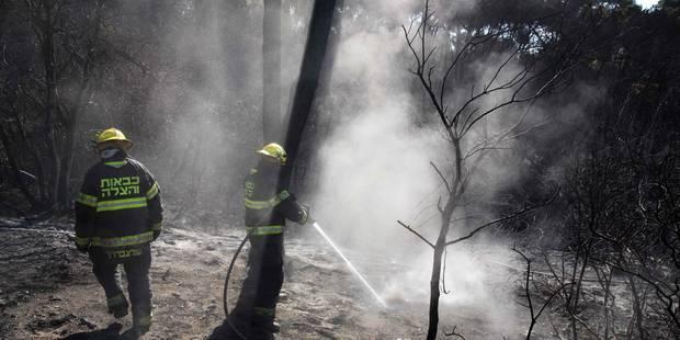 Les Palestiniens envoient des pompiers en Israël pour contrer les incendies - La Libre