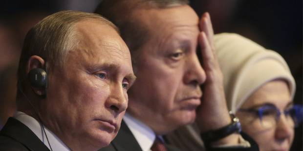 """Syrie: Erdogan et Poutine veulent """"accélérer les efforts"""" pour que les combats cessent à Alep - La Libre"""