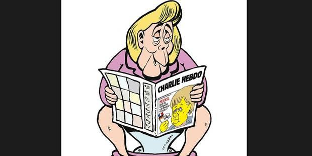Merkel à nu: le journal français Charlie Hebdo débarque en Allemagne (PHOTOS) - La Libre
