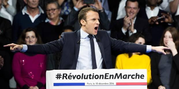 Emmanuel Macron se lâche complètement à la fin de son premier grand meeting (VIDEO) - La Libre