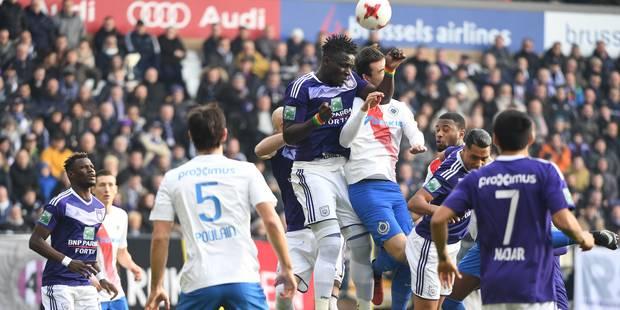 Le Topper accouche d'un match nul, 0-0 entre Anderlecht et Bruges - La Libre