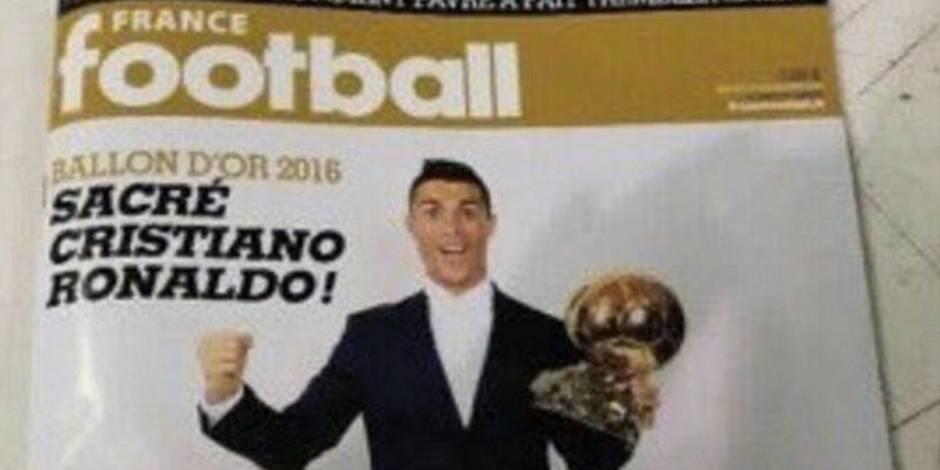 La Une de France Football sacrant Cristiano Ronaldo aurait fuité