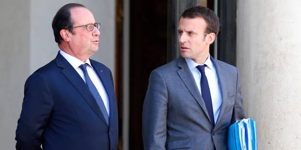 """La candidature de Macron, un ultime """"coup de poignard"""" pour Hollande - La Libre"""
