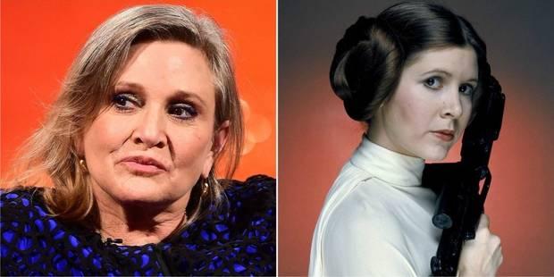 """Décès de Carrie Fisher, inoubliable princesse de """"Star Wars"""" (PHOTOS + VIDEOS) - La Libre"""