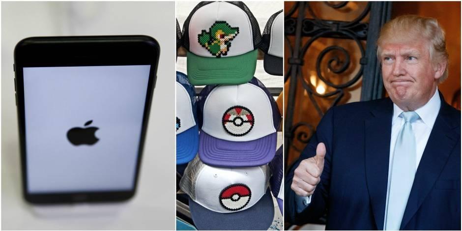 Quel est le point commun entre Pokémon Go, l'iPhone et Donald Trump?