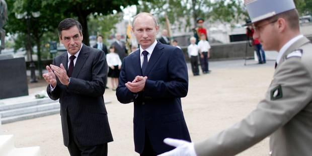 Poutine souhaite une bonne année à Hollande et Fillon - La Libre