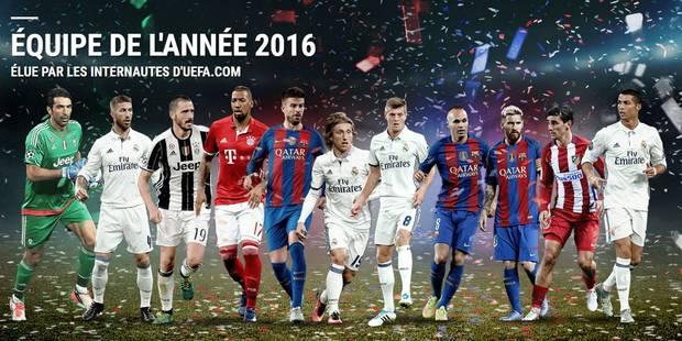 Pas de Diable rouge dans l'équipe UEFA de l'année 2016 - La Libre