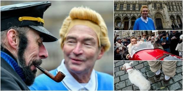 Tintin était de passage à Bruxelles, pour le plus grand plaisir des fans (PHOTOS) - La Libre