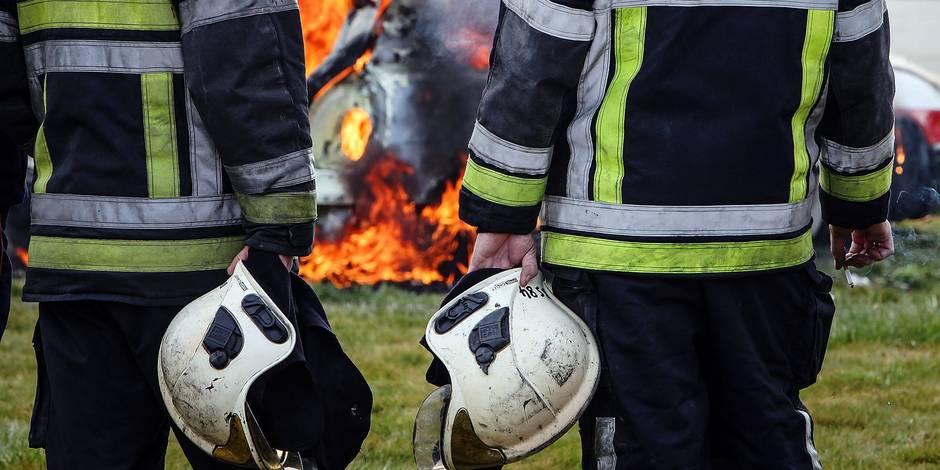 Pompiers de Mons en grève