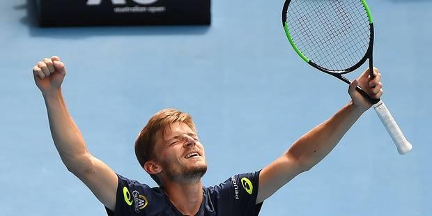 Open d'Australie: David Goffin se qualifie pour les quarts en venant à bout de Thiem - La Libre