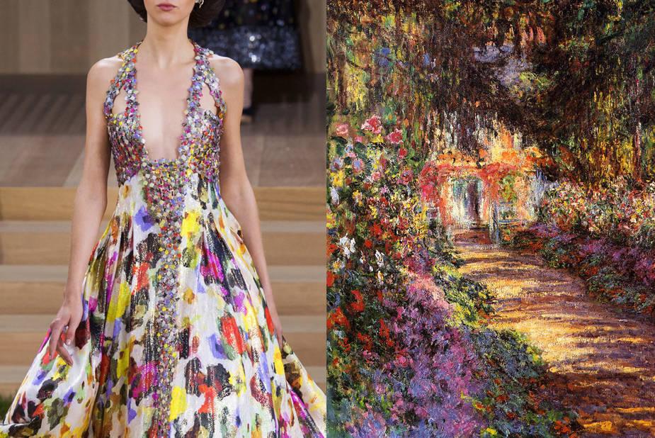 Chanel Haute Couture Printemps 2016 -  Une Allée du Jardin de Giverny, Claude Monet, 1902