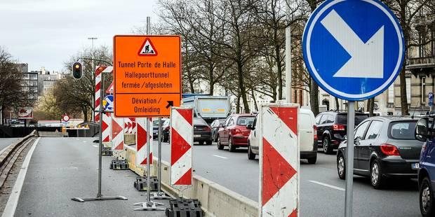 Chaos attendu dès lundi autour du tunnel Porte de Hal - La Libre