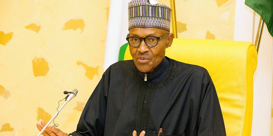 Muhammadu Buhari, président du Nigéria, amaigri et fragile