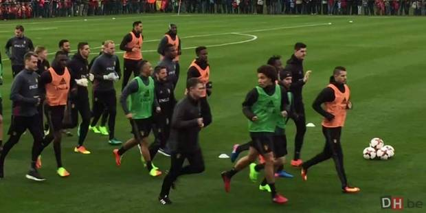 24 Diables pour le premier entraînement, Hazard, Meunier et Fellaini absents (VIDEOS) - La Libre