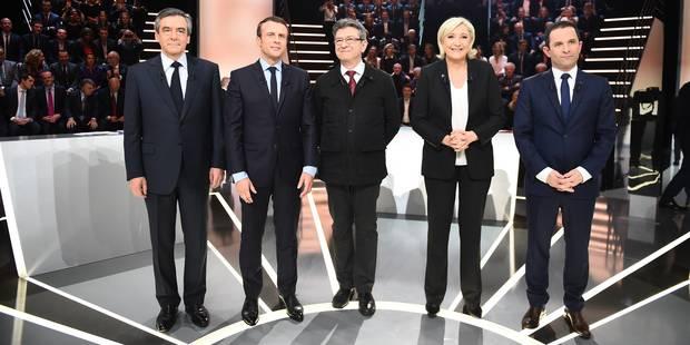 Présidentielle française: Revivez en direct notre couverture du débat entre les 5 favoris - La Libre