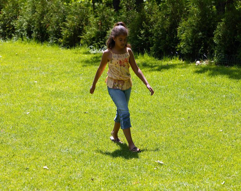 La petite Malia, quand elle avait 8 ans