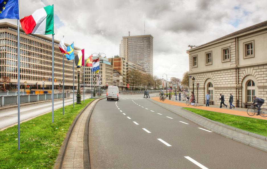 Avenue des Arts / Boulevard du Régent entre Arts-Loi et Trône