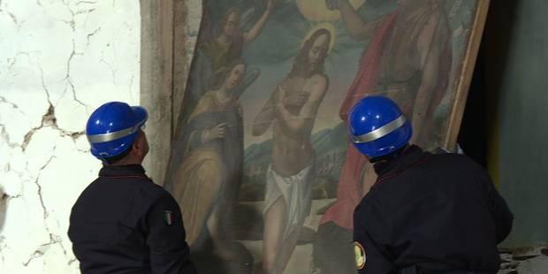 Des Casques bleus italiens au secours des trésors de Visso (VIDEO) - La Libre