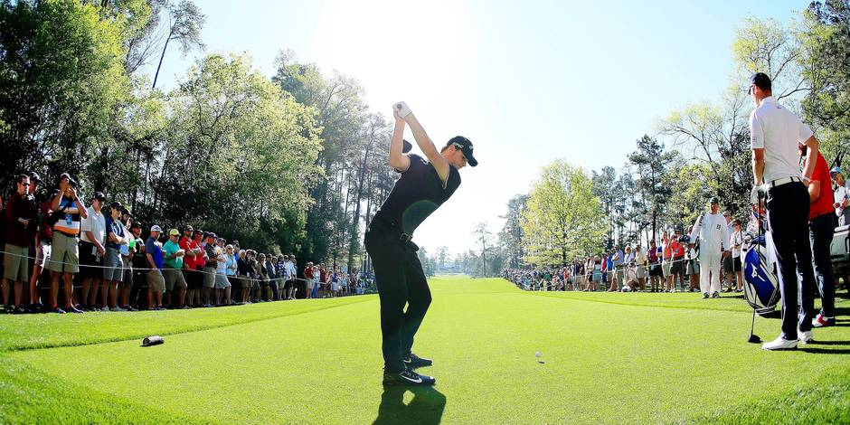AUGUSTA, GA - APRIL 04: Thomas Pieters of Belgium hits his tee shot on the seventh hole during a practice round prior to the start of the 2017 Masters Tournament at Augusta National Golf Club on April 4, 2017 in Augusta, Georgia. Andrew Redington/Getty Images/AFP == FOR NEWSPAPERS, INTERNET, TELCOS & TELEVISION USE ONLY ==