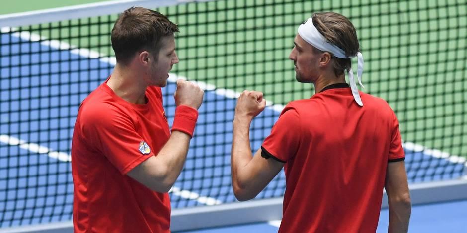 Coupe Davis: l'Italie remporte le double et revient à 2-1