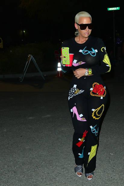 Amber Rose dans une combinaison funky.