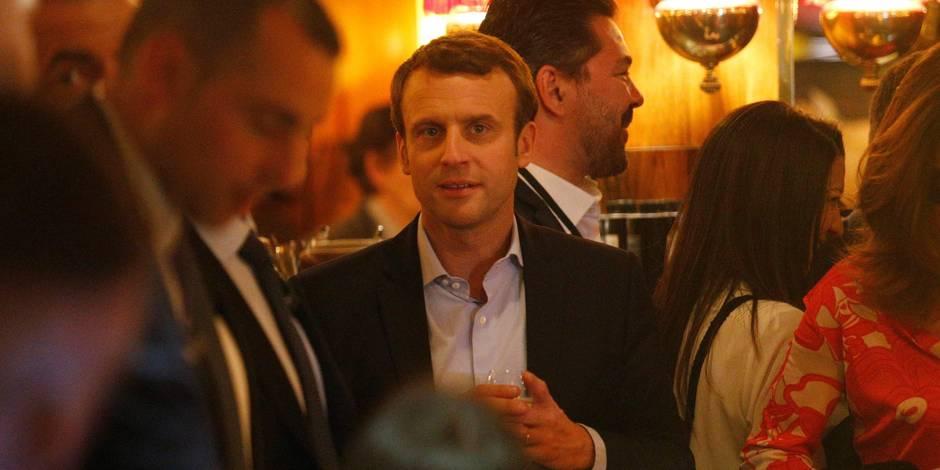 Macron à La Rotonde
