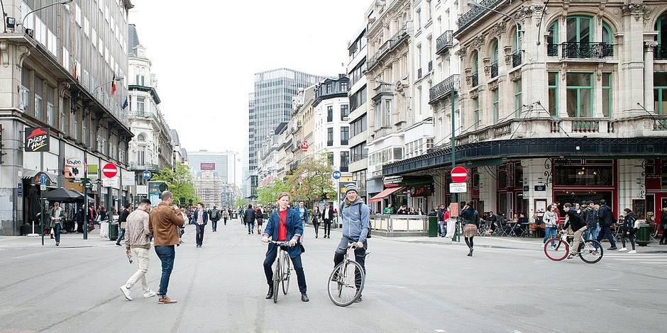 Le Piétonnier , boulevard Anspach , à Bruxelles