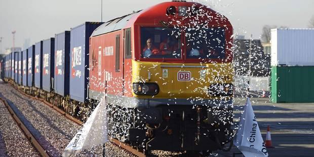 Le premier train direct de Londres est arrivé en Chine, en passant par la Belgique - La Libre