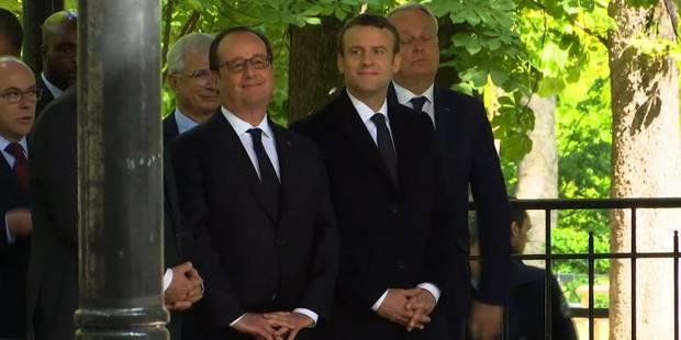 """Hollande à Macron: """"Il y a encore beaucoup à faire monsieur le président"""" (VIDEOS) - La Libre"""