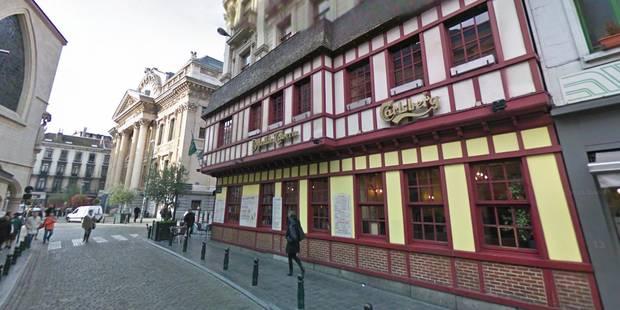 Bruxelles : la Danish Tavern, à côté de la Bourse, a pris feu (Vidéo) - La Libre