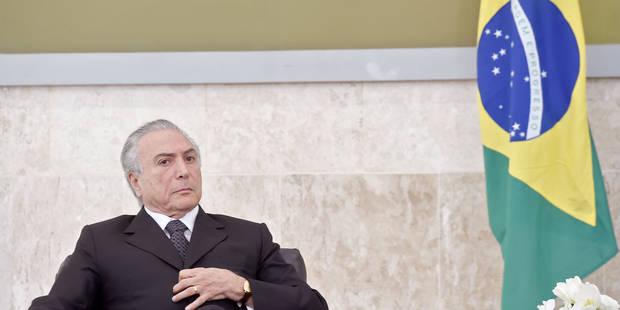 Brésil: le président Temer enregistré donnant son accord à des pots-de-vin! - La Libre