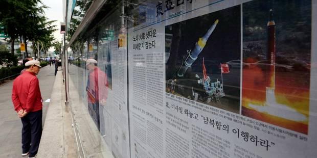"""La Corée du Nord a tiré un """"missile de moyenne portée"""" - La Libre"""