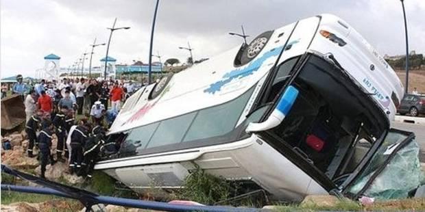 Maroc: 12 morts et 39 blessés dans un accident d'autocar - La Libre