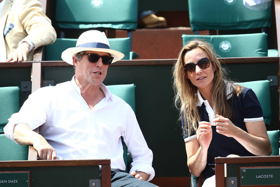 Hugh Grant et sa compagne Anna Elisabet Eberstein