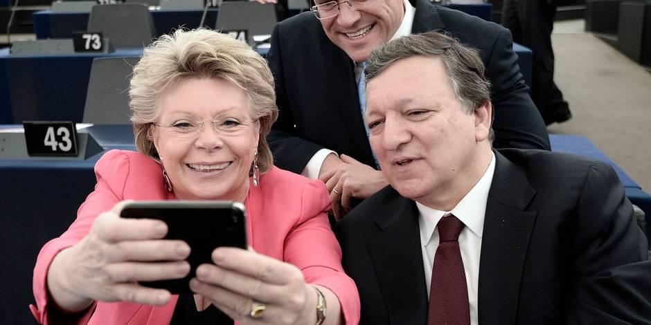 """Viviane Reding: """"Pour supprimer le roaming, il a fallu du sang, des bagarres, des scandales?"""" - La Libre"""
