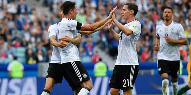 Coupe des Confédérations: l'Allemagne démarre par une victoire contre l'Australie (3-2) - La Libre